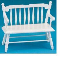 Dollhouse Miniatures 1:12 Scale Deacon Bench, White #CLA10510