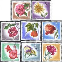 Albanien 1143-1150 (kompl.Ausg.) gestempelt 1967 Blumen