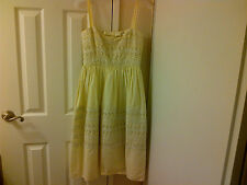 JILL STUART Yellow Eyelet Dress - SIze 2