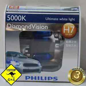 A Pair of Genuine Philips H7 12V 5000K 55W Diamond Vision Bulbs