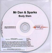 (AB188) Mr Dan & Sparks, Body Slam - DJ CD