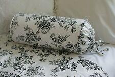 New Custom Ralph Lauren Black Toile Neckroll Pillow Neck Roll