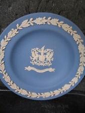 """Wedgwood Jasperware Blue & White City Of London Seal Round Dish 4 1/4"""""""
