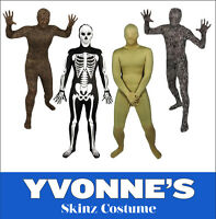 SALE Stag Night Full Body Lycra Skin Tight Suit Skinz Adults Fancy Dress Costume