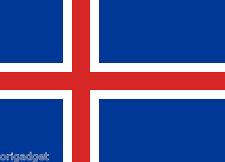 DRAPEAU ISLANDE FLAG RUBANS 100 x 140