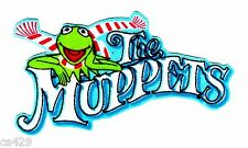 "3"" KERMIT THE FROG MUPPETS CHRISTMAS HOLIDAY LOGO FABRIC APPLIQUE IRON ON"
