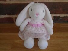 M&S White Bunny with Pink Polka Dot  Dress  EX. Condition