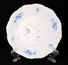 "EUC ""RHAPSODY IN BLUE"" BY MITTERTEICH BAVARIA WHITE PORCELAIN SALAD PLATE 7 3/4"