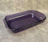 Vintage Pyrex 233 Amethyst Purple Glass 3 Qt Casserole 13 X 9 X 2
