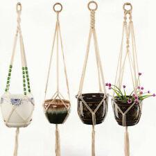 Macrame Plant Hanger Flower Pot Garden Holder Basket Hanging Rope Braided Craft