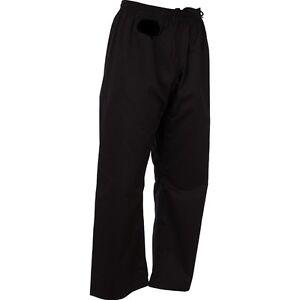 BEST NEW Black Karate Gi pants size 00 0 1 2 3 4 5 6 7 8 Martial arts TaeKwondo