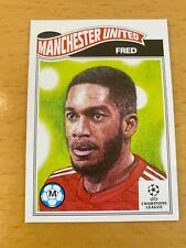 TOPPS UCL SOCCER UEFA LIVING CARD MANCHESTER UNITED FRED #348
