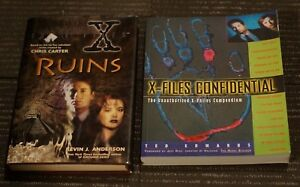 2 books - X-Files - Ruins - H/C with dust jacket 1996 1st Print & Confidential