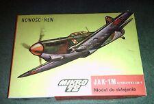 Mikro 72 Nowosc.New  JAK-1M Alternatywa Jak-1   Plastic Model Kit