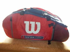 "Official Wilson Racquetball Duffel Bag 29"" long,12"" tall,9"" wide Red/Black Nice!"