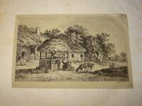 Alexis Nicolas PERIGNON (NANCY 1726-1782) GRAVURE XVIII PAYSAGE ANIME LORRAINE f