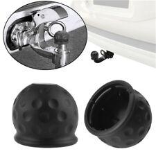 Black Tow Bar Cover Cap Towing Hitch Car Caravan Trailer Tow Ball Protector LD