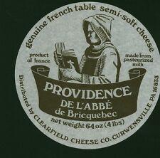 Etiquette de Fromage  Providence de l'Abbé de Briquebec    No 119