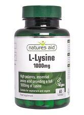 Natures Aid L-Lysine 1000mg 60 Tabs
