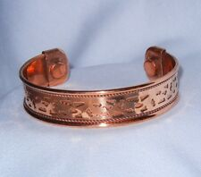 CUT-OUT Design COPPER CUFF Bracelet With MAGNETS #1