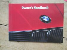 BMW 1989 3 SERIES OWNERS HANDBOOK 316 - 324 TD TOURING CABRIO