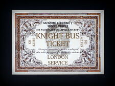 Harry Potter style Knight Bus Ticket