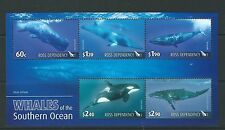 NEW ZEALAND 2010 ROSS DEPENDANCY WHALES MINIATURE SHEET UNMOUNTED MINT, MNH