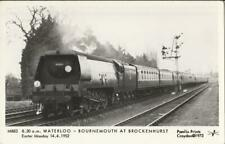 RP Railway Postcard SR MN 35011 General Steam Navigation Brockenhurst 1952 Loco