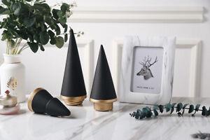 Modern Elegant BLACK Ceramic Christmas Tree Figurine Figure Decoration Ornaments