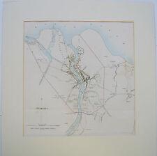 Inverness: Città PIANO PER RK Dawson & testo descrittivo, 1832