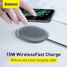Baseus Qi Wireless Charger Pad 15W Charge Dock For Airpods iPhone 11 Pro Max