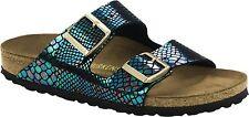 Birkenstock Arizona Sandalen schmal shiny snake black multi Pantoletten 1003463