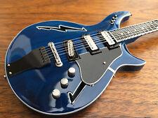 Grateful Dead Bob Weir Blue Lightning Bolt Miniature Guitar  - Free Shipping