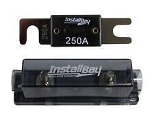 Nickel Plated ANLFH Fuse Holder Install Bay Metra + ANL-250 Fuse
