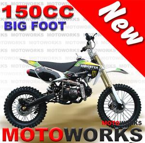 MOTOWORKS 150CC bigfoot OIL COOLED DIRT TRAIL PIT MOTOR 2 WHEELS PRO BIKE green
