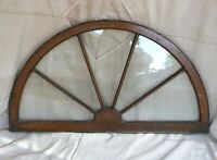 "Antique Half-circle Wagon-Wheel Style Arched Window Transom Salvage 28"" x 50"""