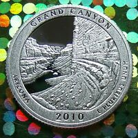 SILVER PROOF 2010 GRAND CANYON Quarter w HOLDER AMERICA THE BEAUTIFUL
