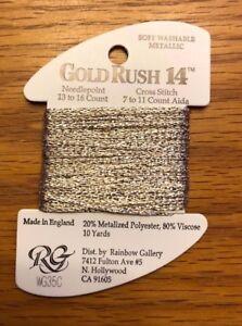 Rainbow Gallery Gold Rush 14 Metallic Fiber - 2 Cards - Thread - Needlepoint
