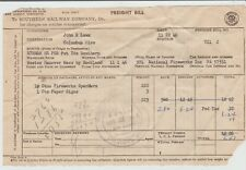 1946 - Southern Railway Co. Freight Bill - National Fireworks Company