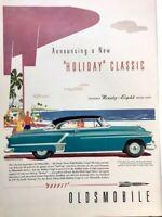 1952 Oldsmobile Ninety-Eight Vintage Advertisement Print Art Car Ad Poster LG74