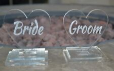 Bride And Groom Stands