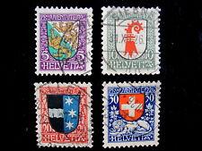 SWITZERLAND - SCOTT# B37-B40 - CS - USED - CAT VAL $22.50