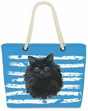 Strandtasche Katze Shopper Tasche XXL Beach Bag Haustier Tier Cat Katzenkorb Pet