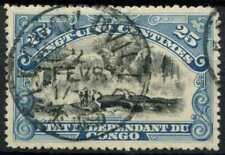 Belgian Congo 1900 SG#32, 25c Black And Blue Used #D97022