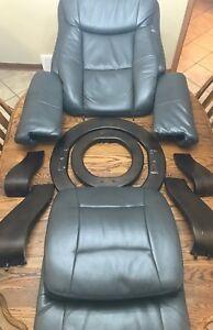 Flash Furniture Gray Swivel Recliner / Ottoman (PARTS / DROP DOWN MENU)-oe