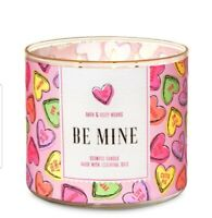 NEW BATH & BODY WORKS BE MINE CANDY HEARTS 3 - WICK SCENTED CANDLE 14.5 Oz