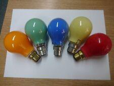 25w Coloured GLS Light Bulbs BC (B22) ES (E27) Red Blue Yellow Amber Green