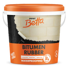 Gripset Betta Waterbased Bitumen rubber 1lt for Waterproofing Fish Ponds Wet Are