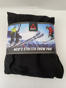Gerry Men's Stretch Snow Pant XXL 2XL Water Res Fleece Lined Black NEW with Tags