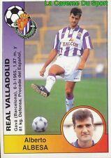 332 ALBERTO ALBESA ESPANA REAL VALLADOLID STICKER CROMO LIGA 1995 PANINI